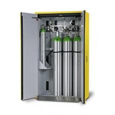 Feuerbeständiger Druckgasflaschenschrank G30.12, 1200 mm breit, 2-flügelige Tür, gelb