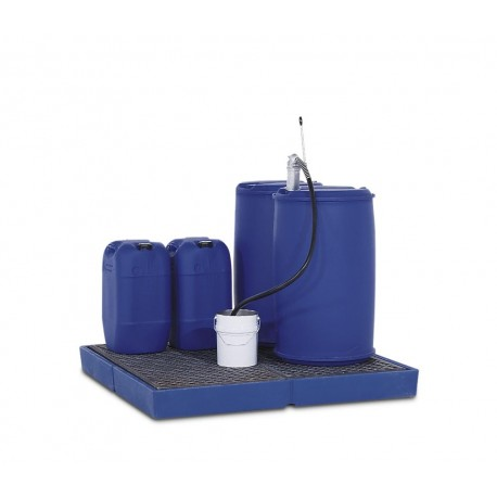 Bodenelement BZ 19.19 aus Stahl, verzinkt, Gitterrost, max. Radlast 2000 kg, 1860 x 1860 x 80 mm