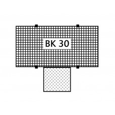 Bodenelement BK 30.15 aus Polyethylen (PE), mit PE-Gitterrost, 3000 x 1500 x 150 mm