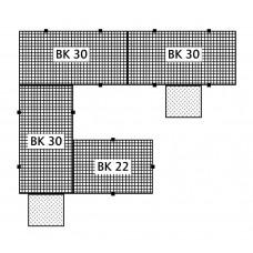 Bodenelement BK 22.15 aus Polyethylen (PE), mit PE-Gitterrost, 2200 x 1500 x 150 mm