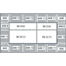 Bodenelement BK 22.8 aus Polyethylen (PE) mit PE-Gitterrost, 2200 x 800 x 150 mm