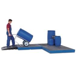 Bodenelement BK 30.22 aus Polyethylen (PE), mit PE-Gitterrost, 3000 x 2200 x 150 mm kaufen