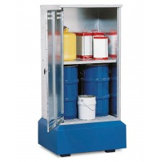 Fass-Schrank FSB 8.8 für Kleingebinde bis 60 Liter, mit Zwischenboden