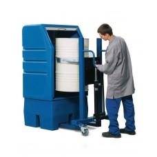 PolySafe-Depot PSR 8.8 für 1 Fass à 200 Liter, mit Gitterrost aus Polyethylen (PE), mit Jalousie